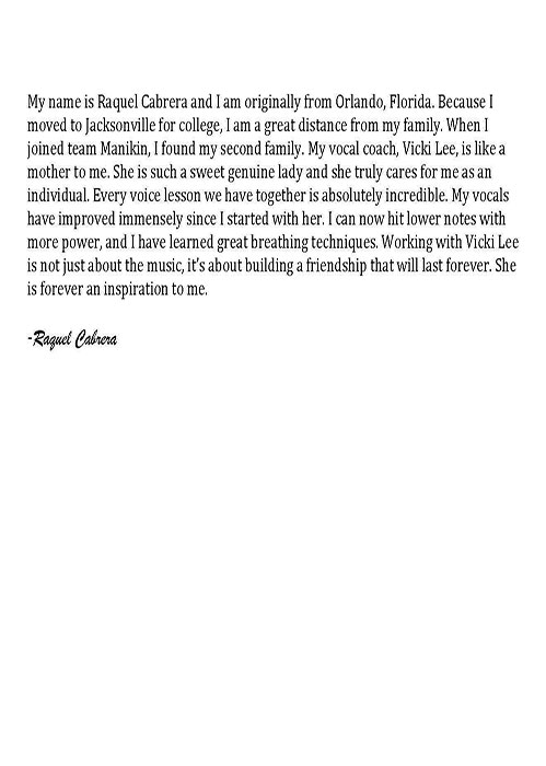 testimonial letter for a student